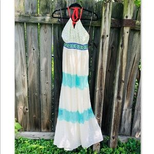 Flying tomato lace maxi dress
